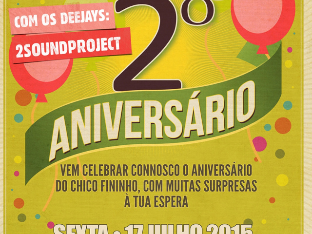 Flyer aniversário Chico Fininho